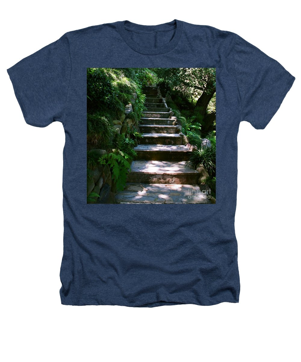 Nature Heathers T-Shirt featuring the photograph Stone Steps by Dean Triolo