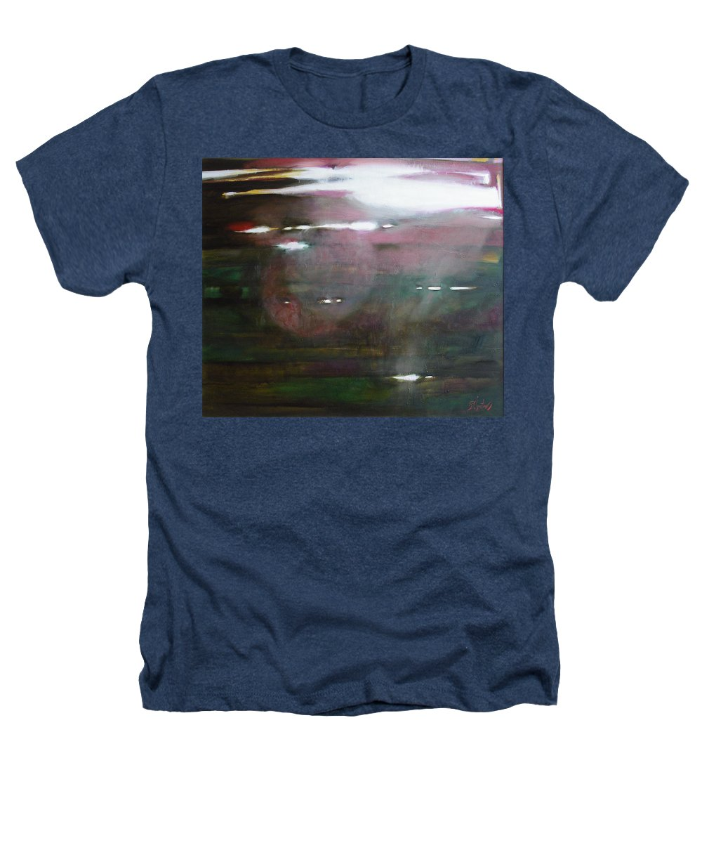 Oil Heathers T-Shirt featuring the painting The Parallel World by Sergey Ignatenko