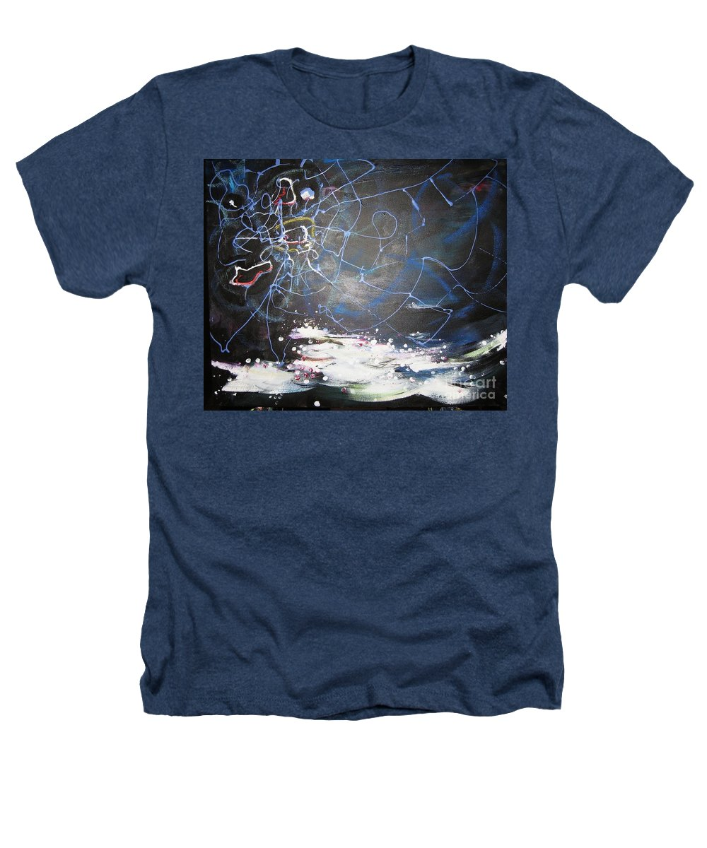 Abstract Paintings Heathers T-Shirt featuring the painting Buckwheat Field by Seon-Jeong Kim