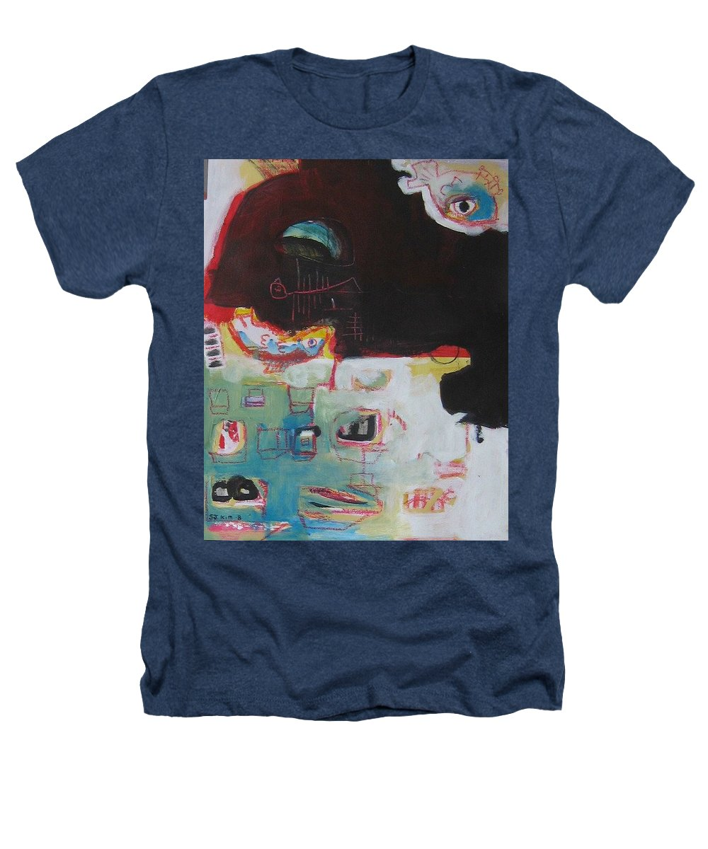 Abstract Paintings Heathers T-Shirt featuring the painting Little Bay by Seon-Jeong Kim