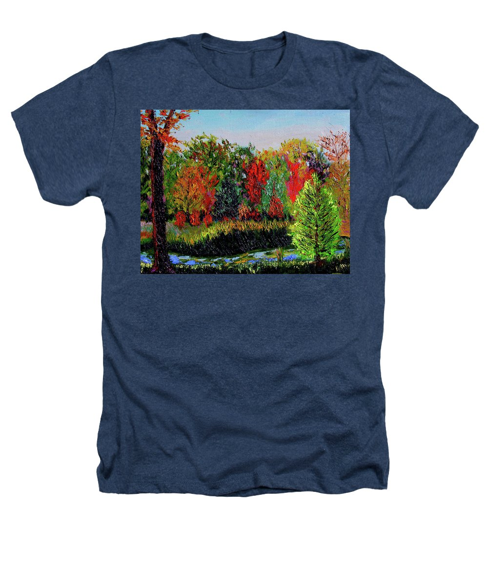 Plein Air Heathers T-Shirt featuring the painting Sewp 10 10 by Stan Hamilton