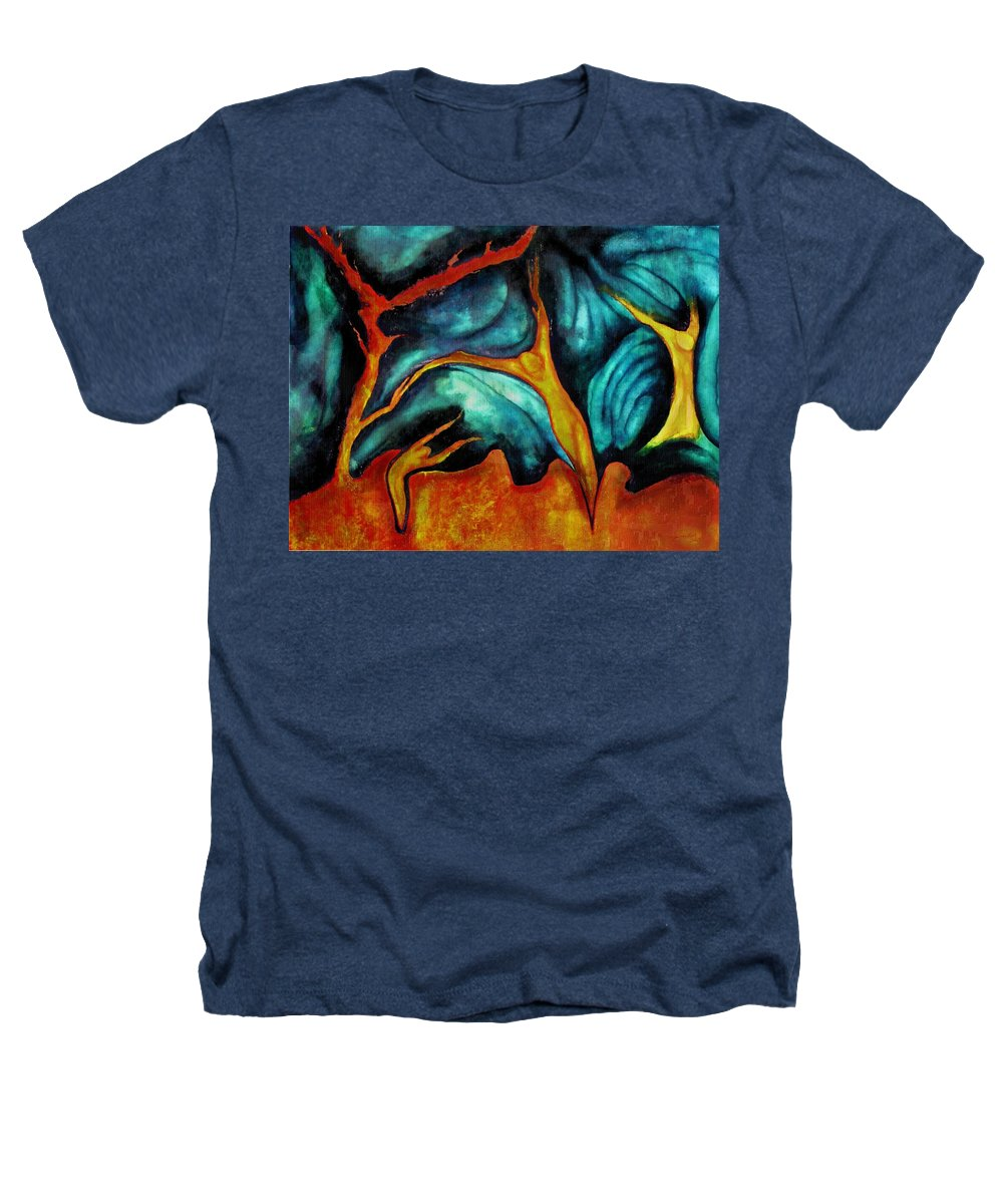 Soul Expression Words Thoughts Mind Connection Heathers T-Shirt featuring the painting Untitled by Veronica Jackson