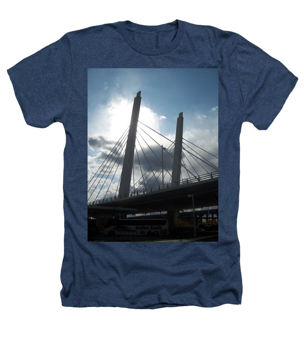 Bridge Heathers T-Shirt featuring the photograph 6th Street Bridge Backlit by Anita Burgermeister