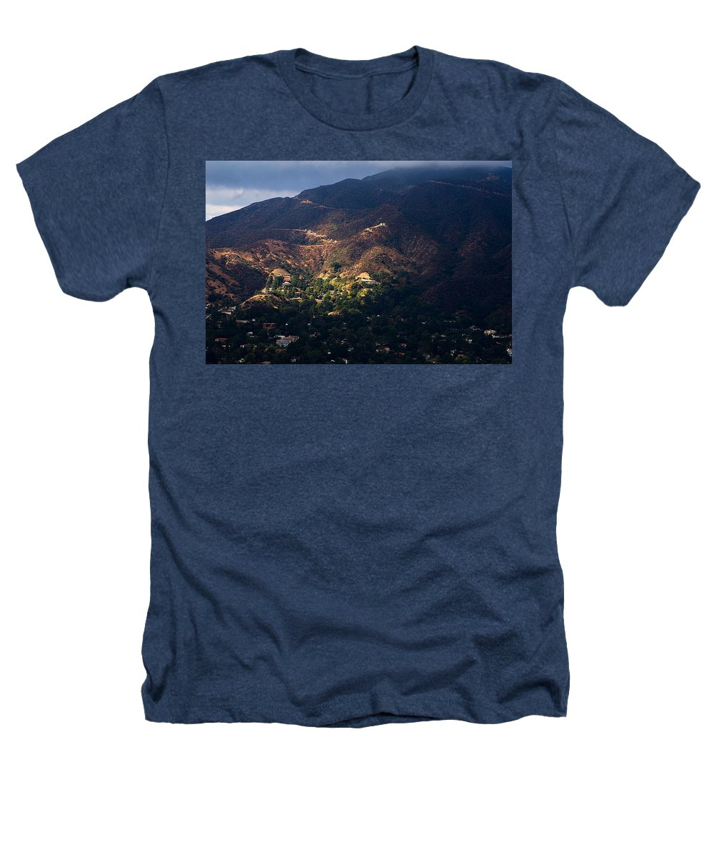 Clay Heathers T-Shirt featuring the photograph A Break In The Clouds In Southern California by Clayton Bruster