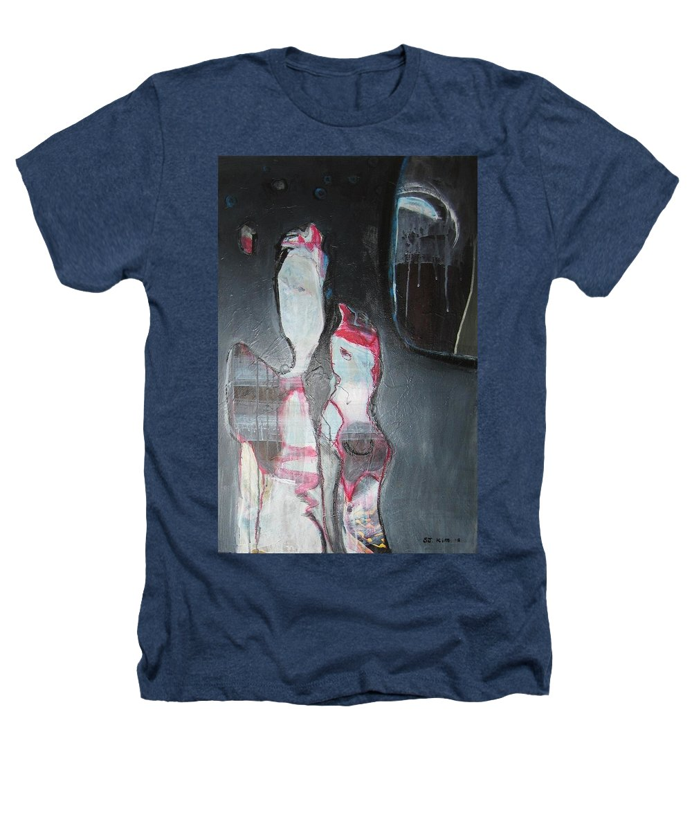 Abstract Paintings Heathers T-Shirt featuring the painting A Flase Rumor by Seon-Jeong Kim