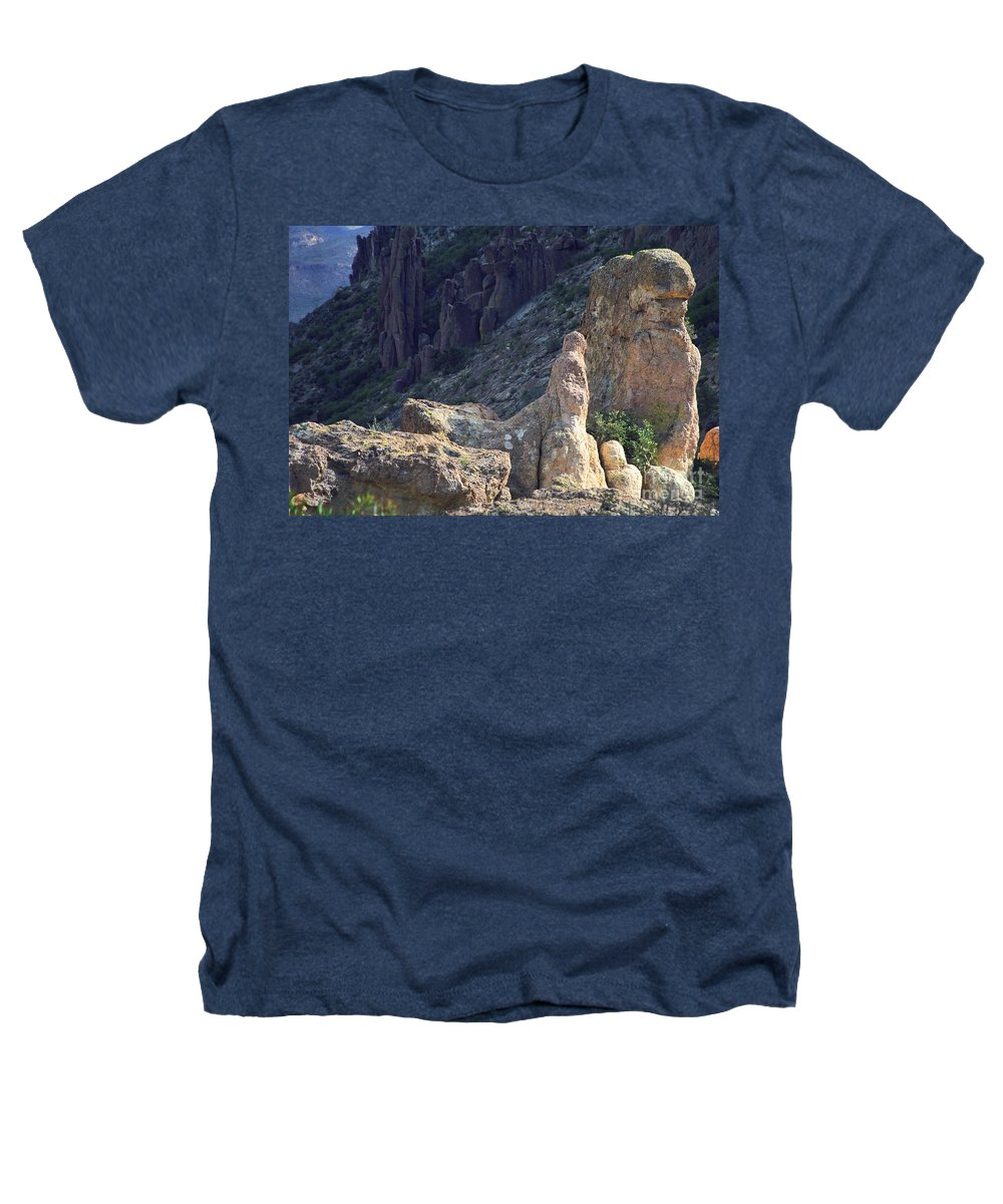 Rock Formations Heathers T-Shirt featuring the photograph A Hard Ride by Kathy McClure