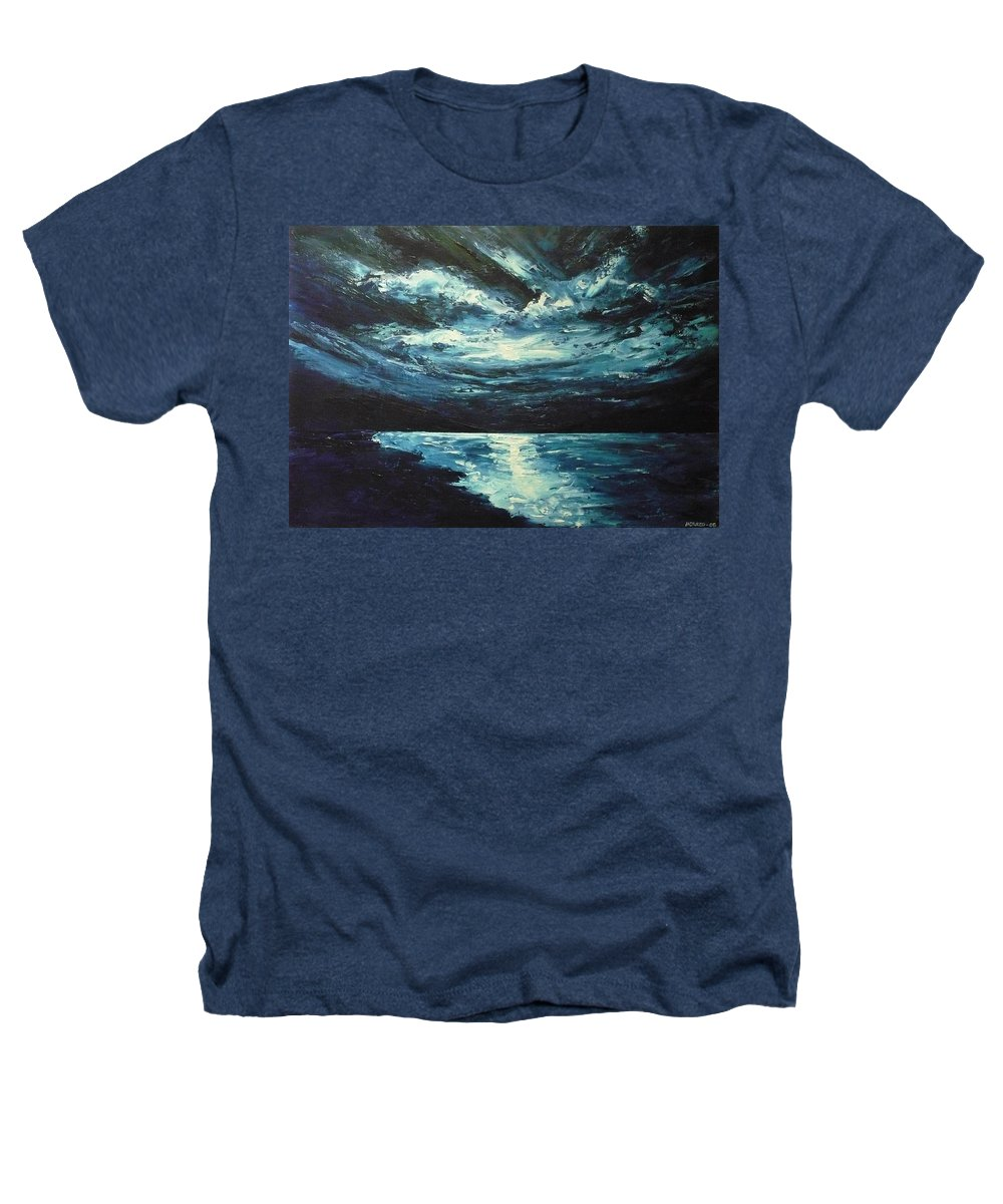 Landscape Heathers T-Shirt featuring the painting A Milky Way by Ericka Herazo