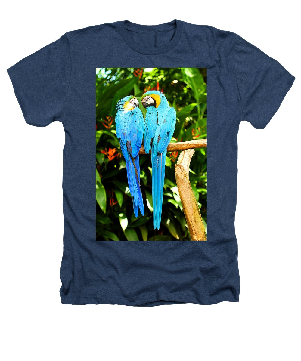 Bird Heathers T-Shirt featuring the photograph A Pair Of Parrots by Marilyn Hunt
