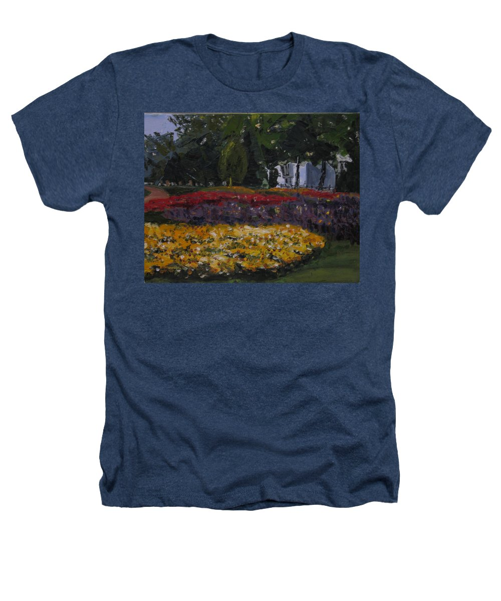 Landscape Heathers T-Shirt featuring the painting A Park In Cambrige by Piety Choi