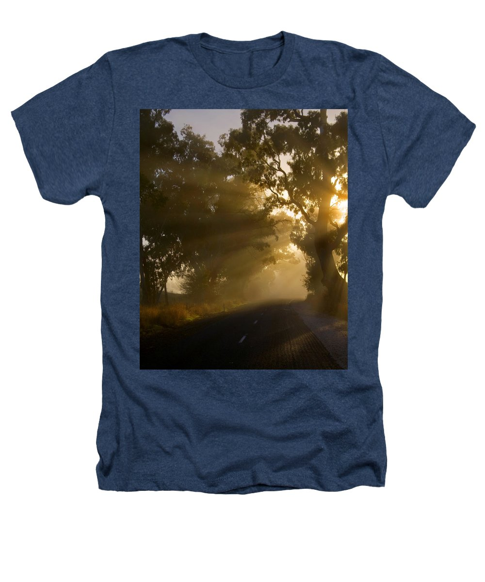 Highway Heathers T-Shirt featuring the photograph A Road Less Traveled by Mike Dawson