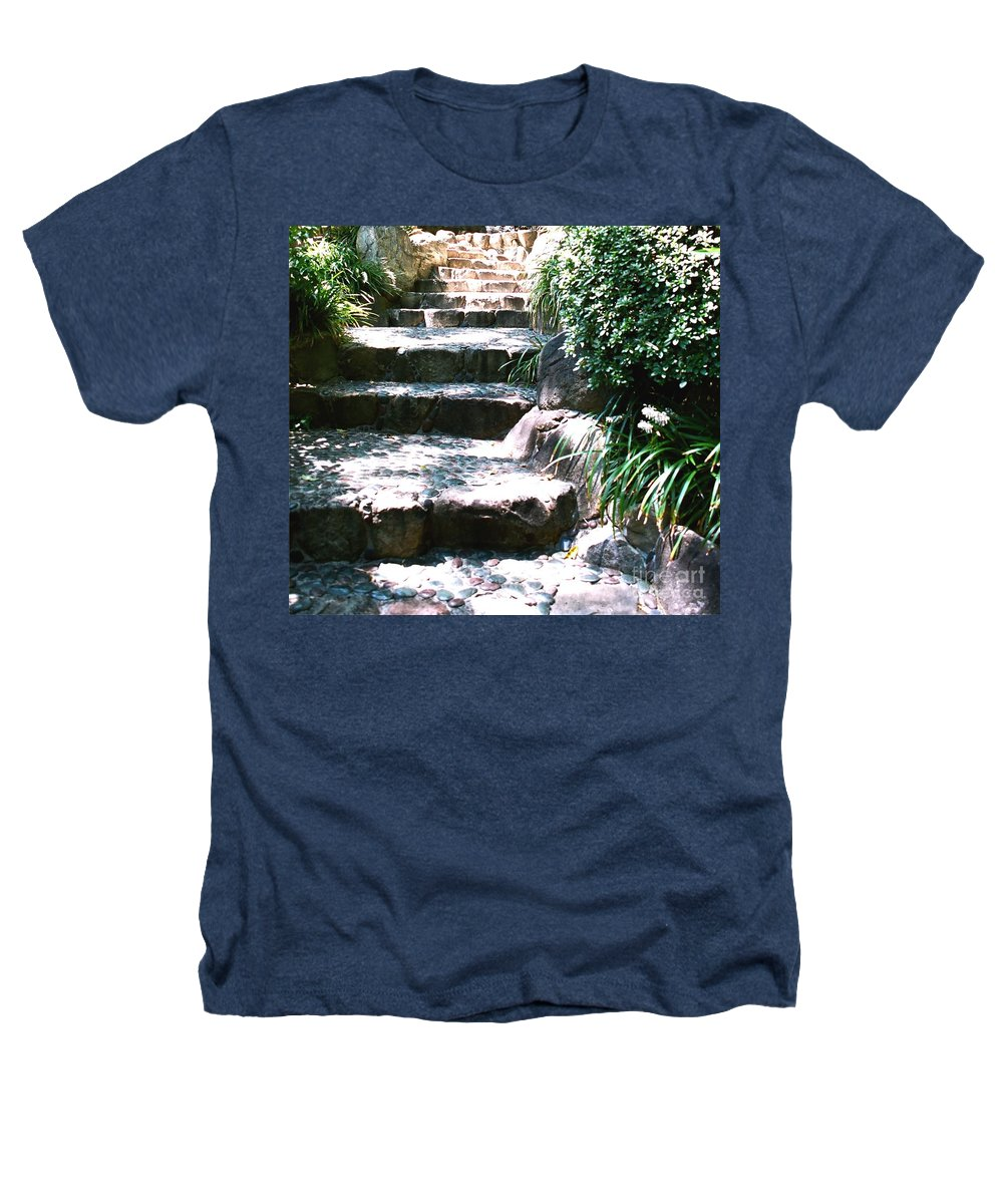 Stairs Heathers T-Shirt featuring the photograph A Way Out by Dean Triolo