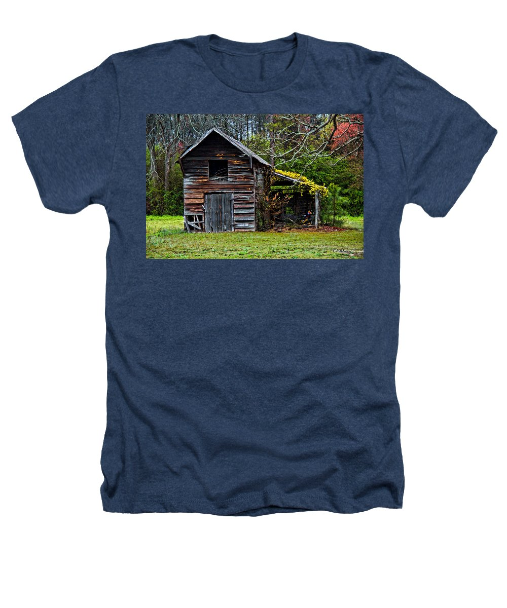 Barn Heathers T-Shirt featuring the photograph A Yellow Cover by Christopher Holmes