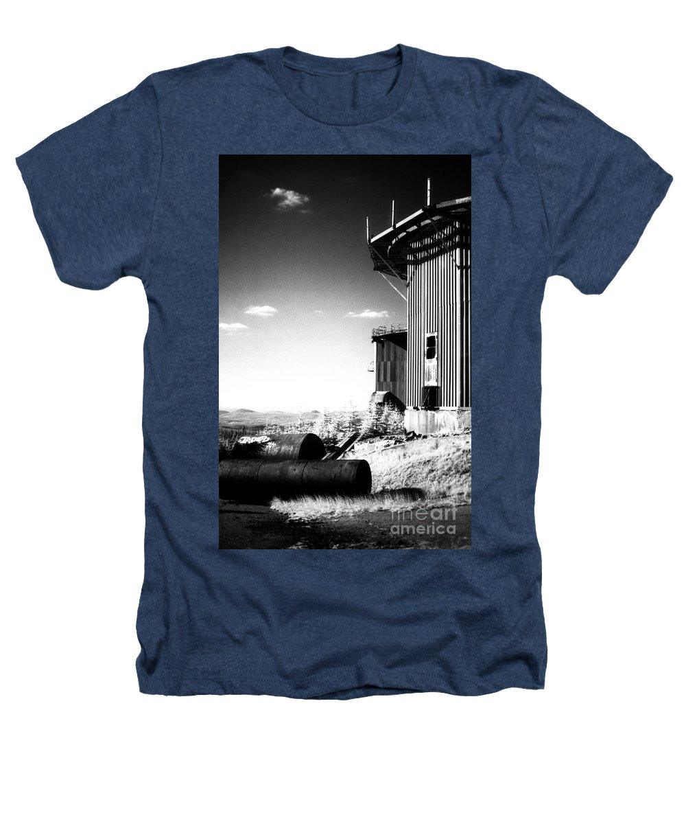 Abandoned Heathers T-Shirt featuring the photograph Abandoned Radar by Richard Rizzo