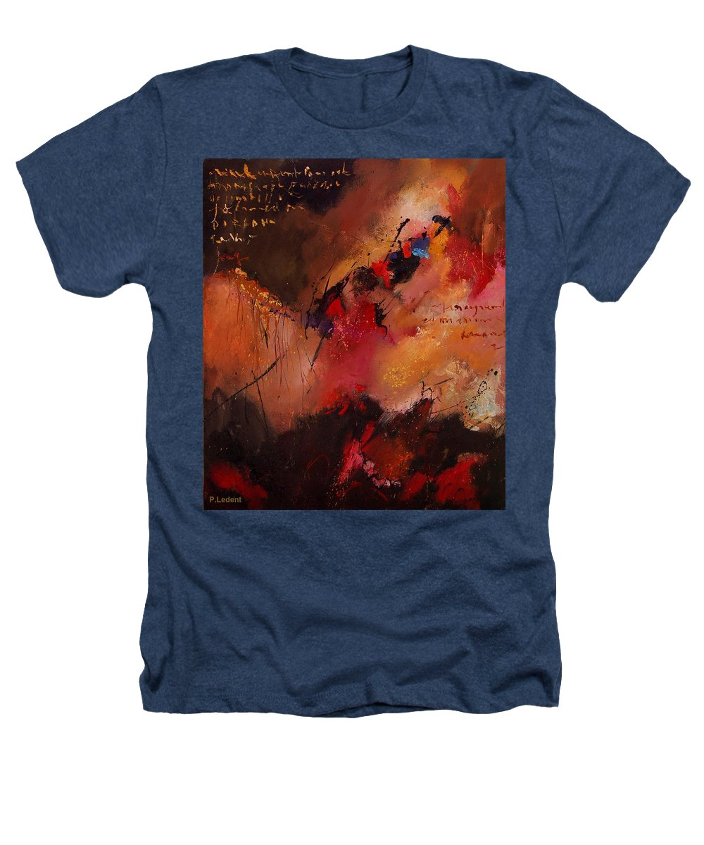 Abstract Heathers T-Shirt featuring the painting Abstract 0408 by Pol Ledent