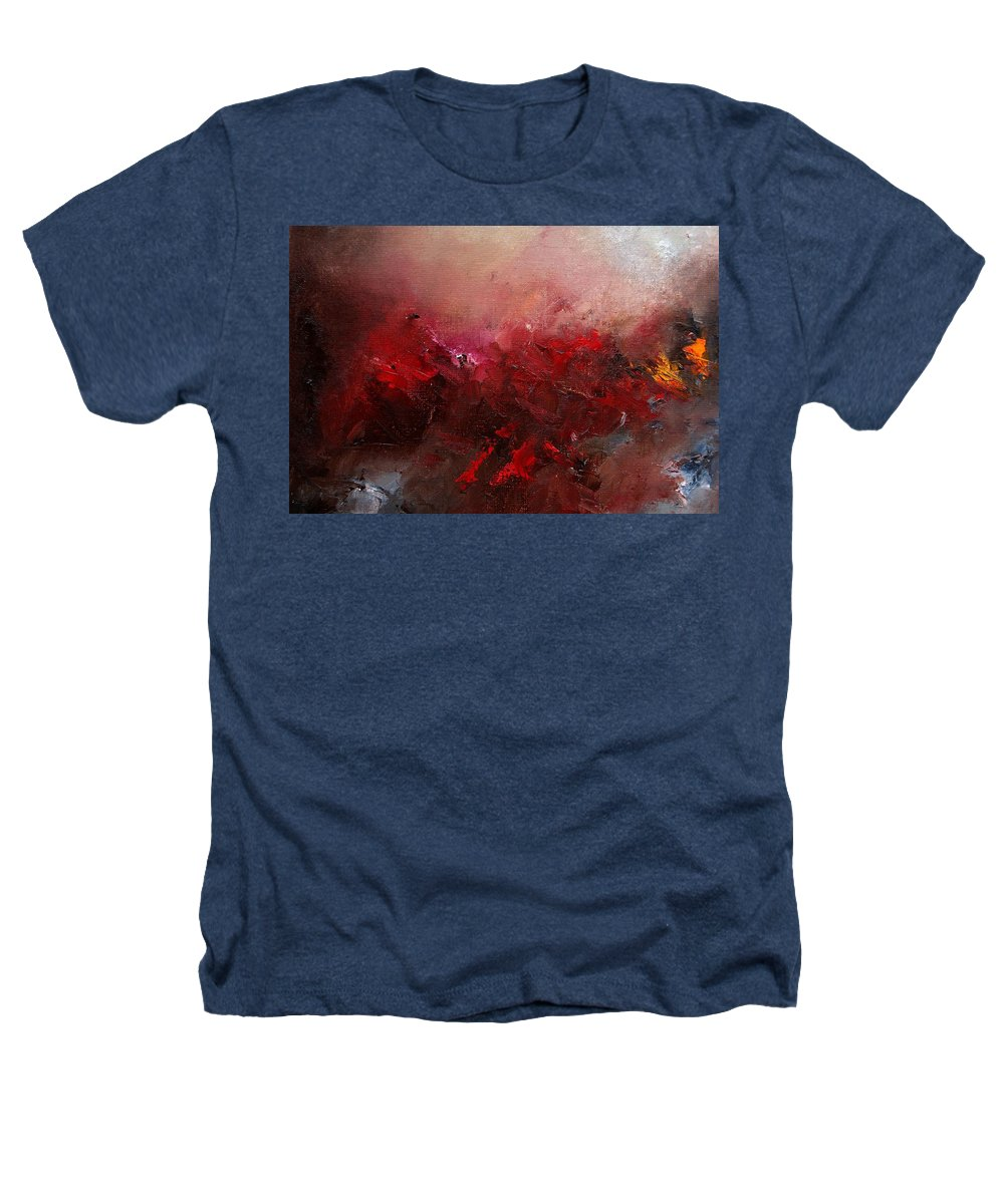 Abstract Heathers T-Shirt featuring the painting Abstract 056 by Pol Ledent