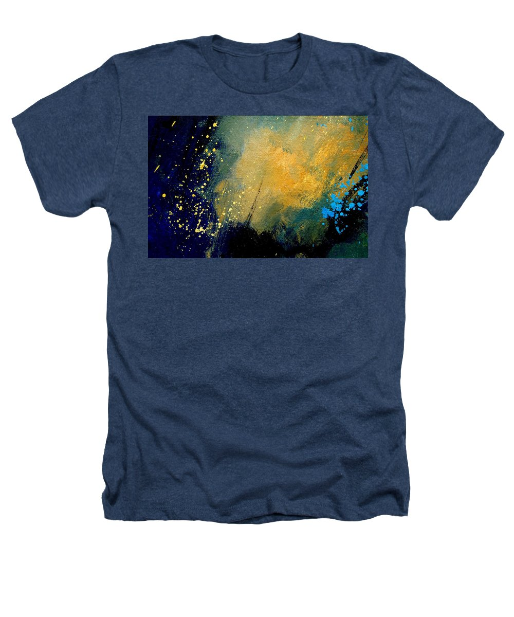 Abstract Heathers T-Shirt featuring the painting Abstract 061 by Pol Ledent
