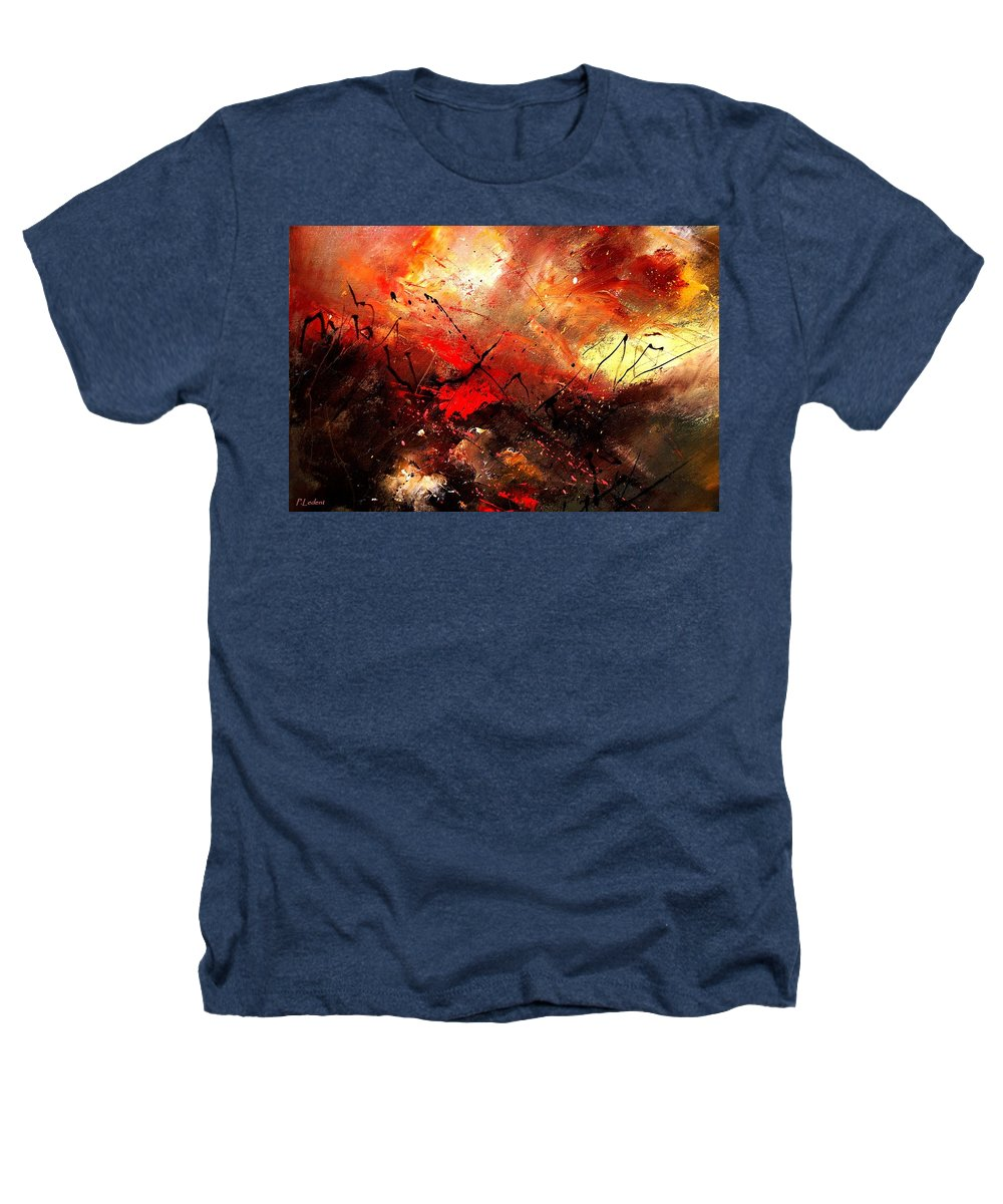 Abstract Heathers T-Shirt featuring the painting Abstract 100202 by Pol Ledent