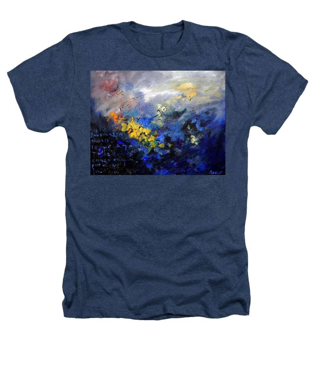 Abstract Heathers T-Shirt featuring the painting Abstract 970208 by Pol Ledent
