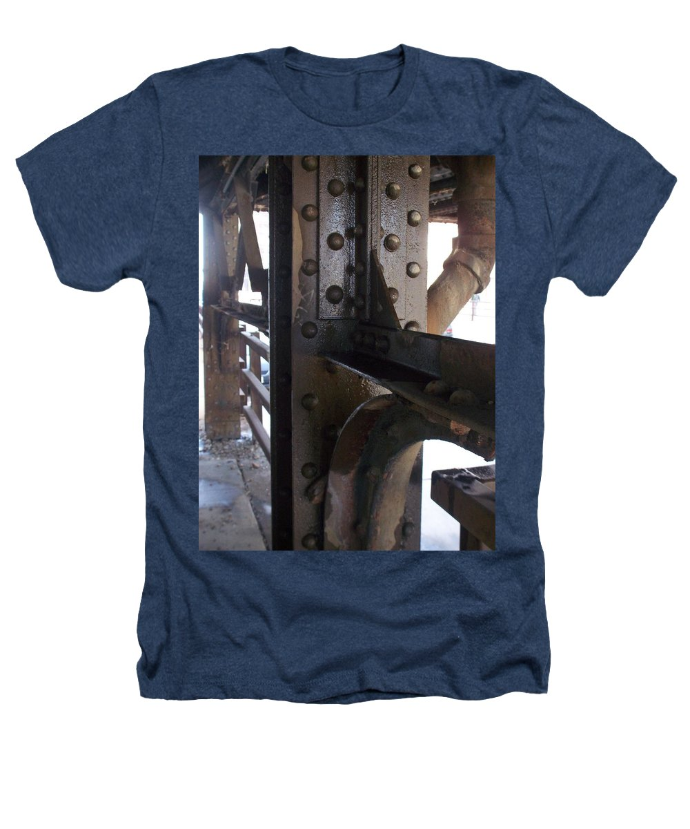 Industrial Heathers T-Shirt featuring the photograph Abstract Rust 5 by Anita Burgermeister