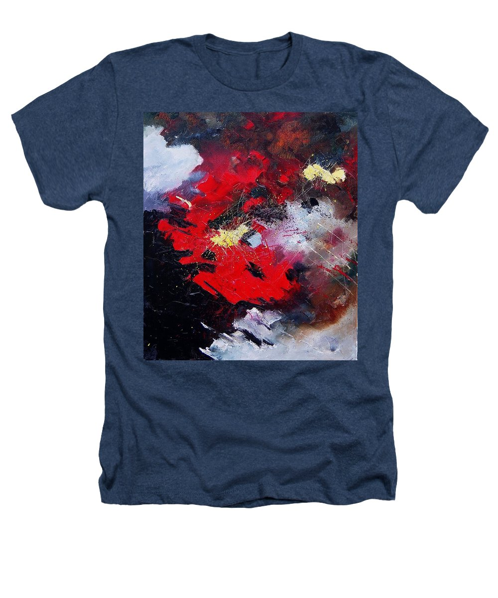 Abstract Heathers T-Shirt featuring the painting Abstract070406 by Pol Ledent