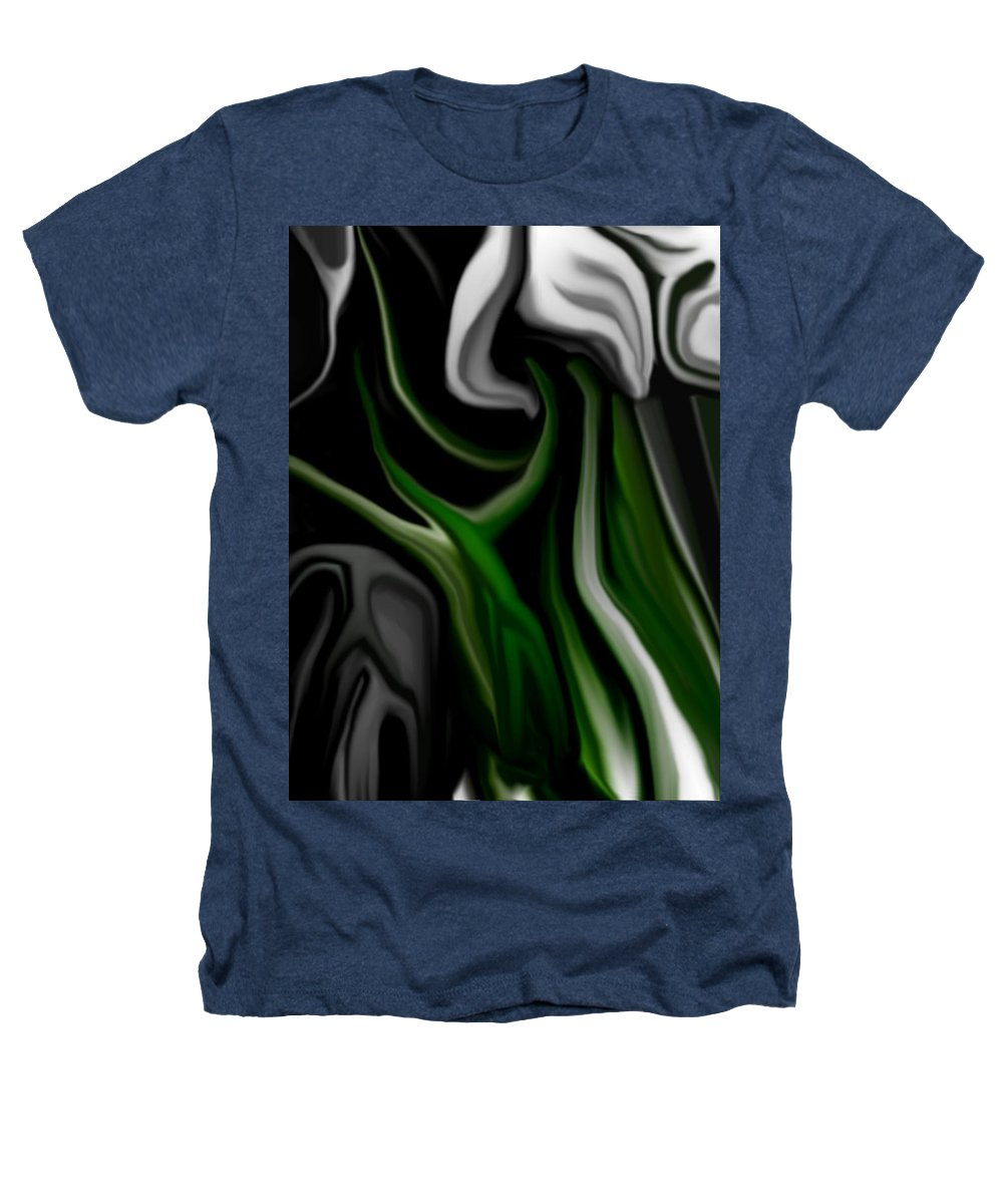 Abstract Heathers T-Shirt featuring the digital art Abstract309h by David Lane