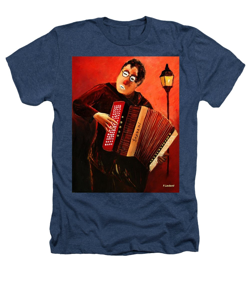 Music Heathers T-Shirt featuring the print Accordeon by Pol Ledent