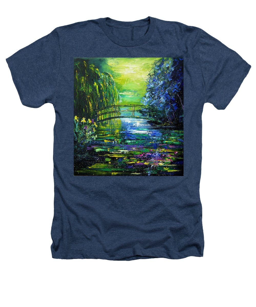 Pond Heathers T-Shirt featuring the painting After Monet by Pol Ledent