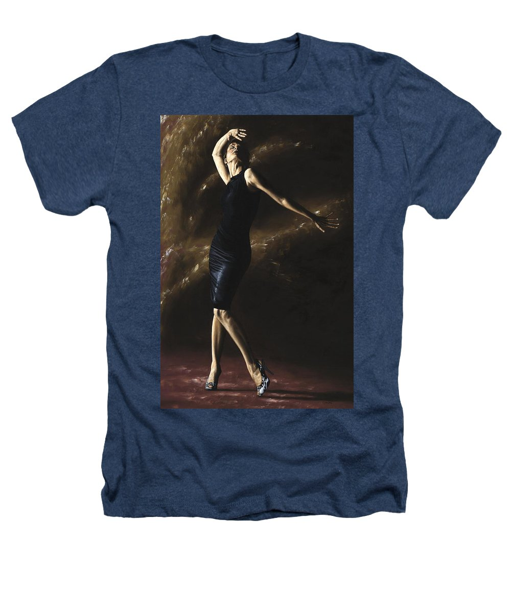 Dance Heathers T-Shirt featuring the painting After The Dance by Richard Young