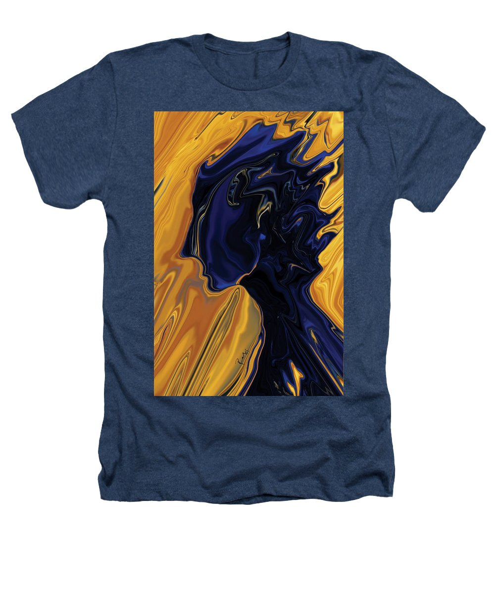 Abstract Heathers T-Shirt featuring the digital art Against The Wind by Rabi Khan
