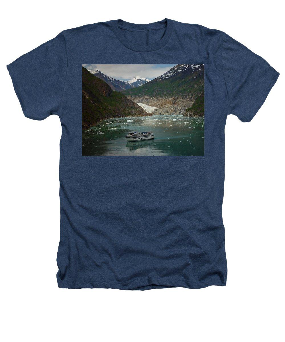 Alaska Heathers T-Shirt featuring the photograph Alaska Endicott Glacier by Heather Coen