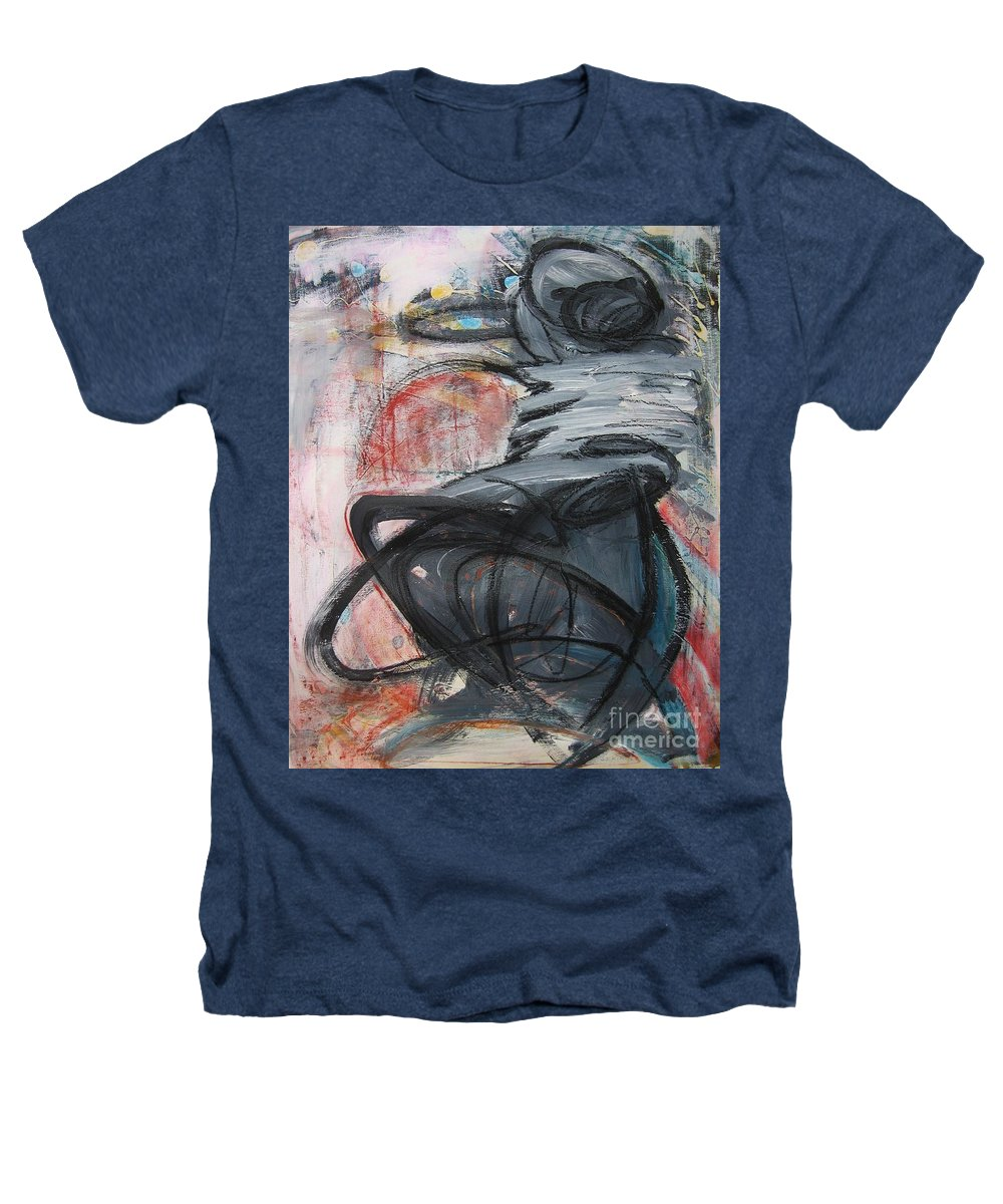 Abstract Paintings Paintings Heathers T-Shirt featuring the painting All Alone by Seon-Jeong Kim