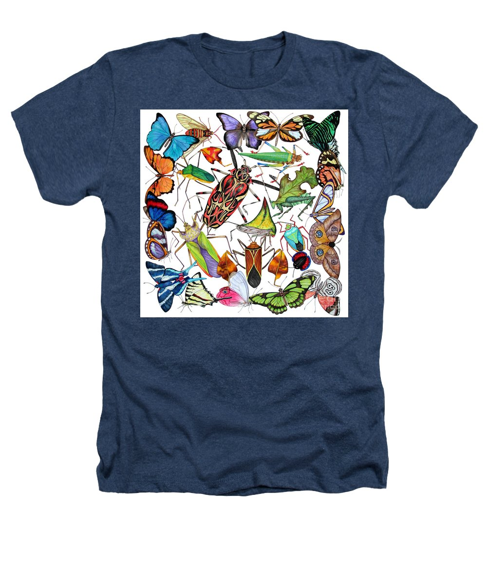 Insects Heathers T-Shirt featuring the painting Amazon Insects by Lucy Arnold