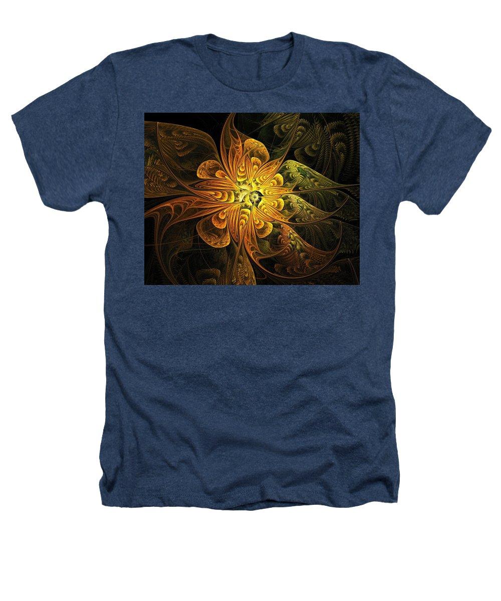 Digital Art Heathers T-Shirt featuring the digital art Amber Light by Amanda Moore