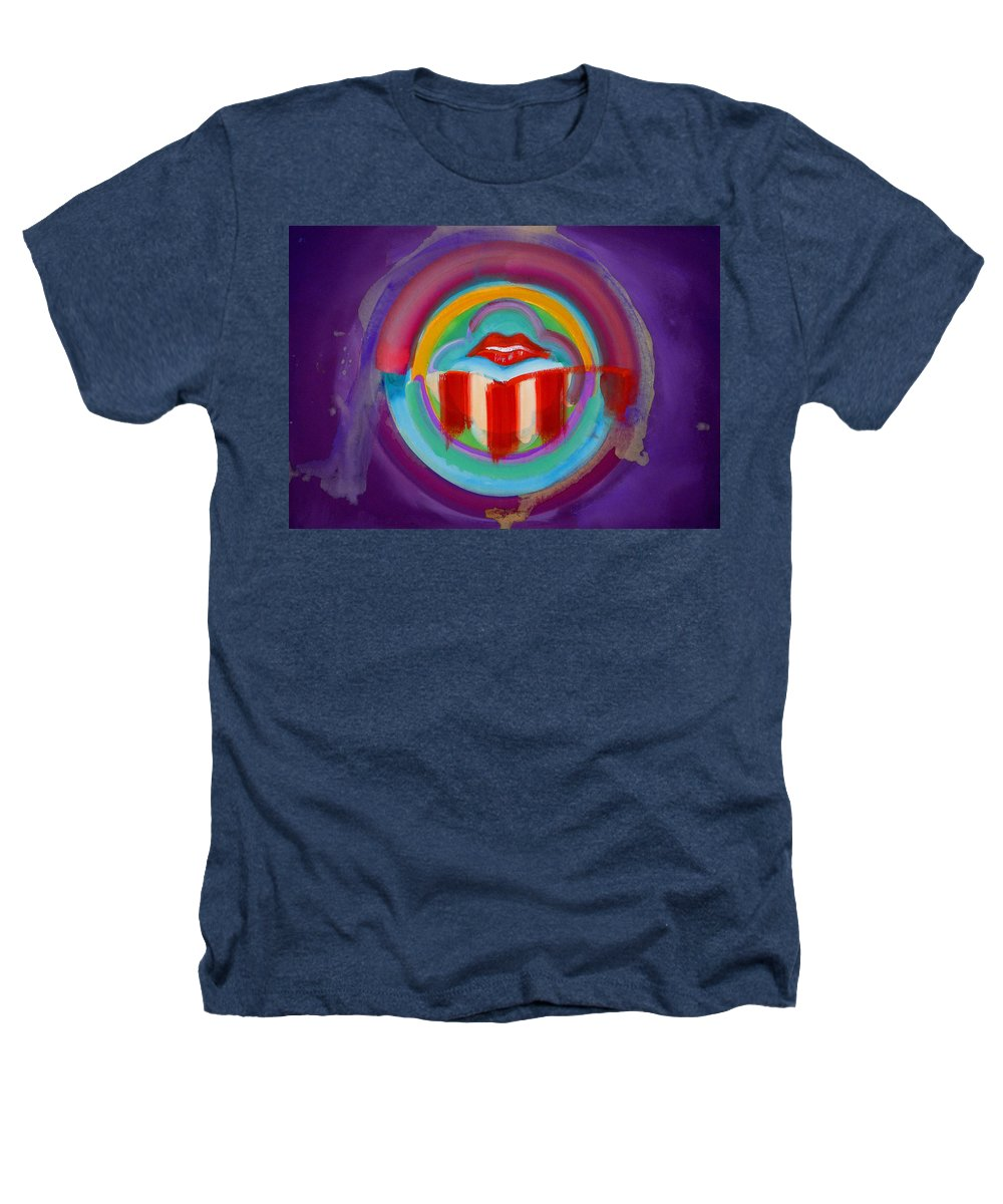Button Heathers T-Shirt featuring the painting American Kiss by Charles Stuart