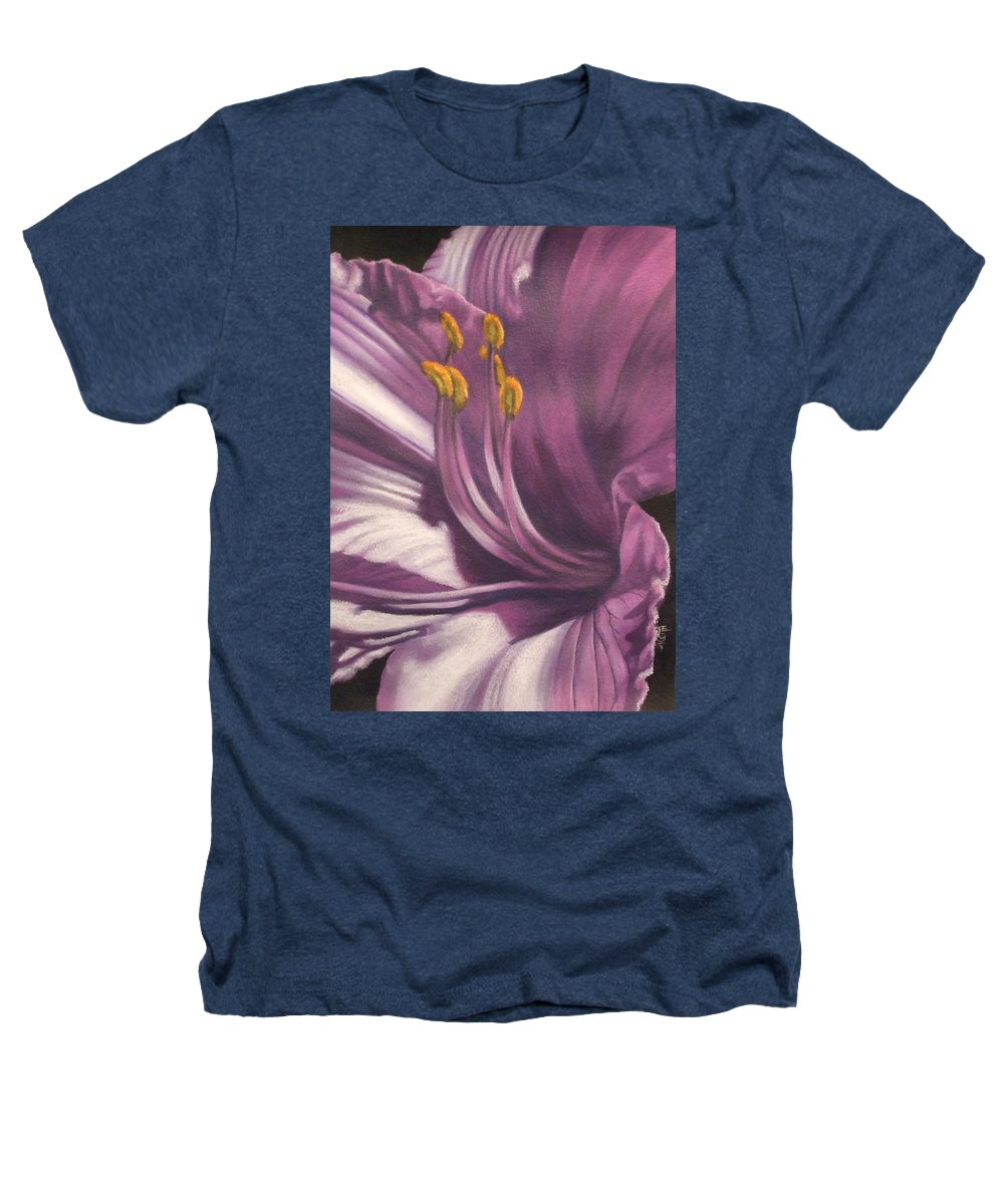 Floral Heathers T-Shirt featuring the mixed media Amethyst by Barbara Keith
