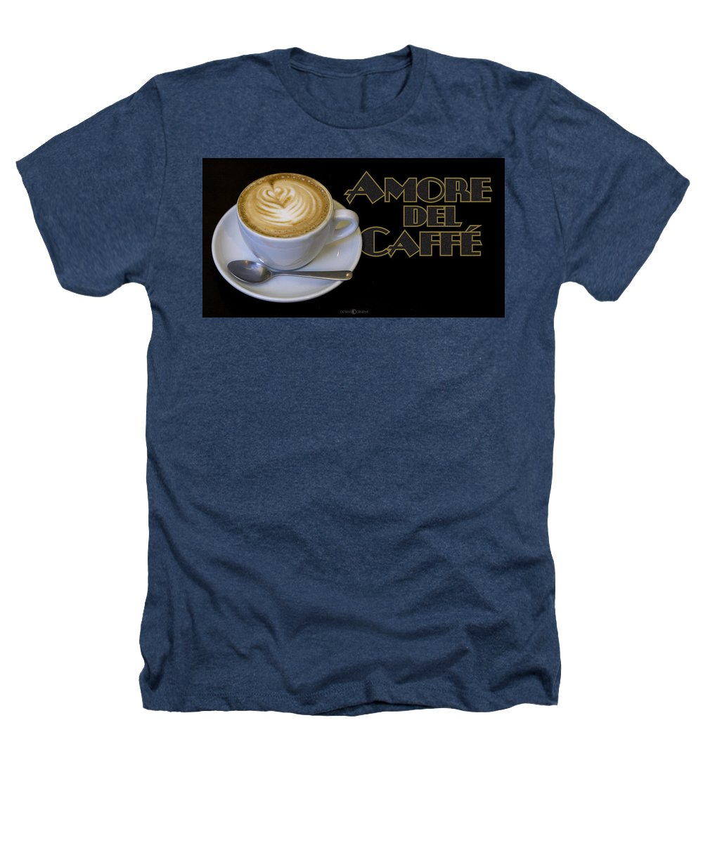 Coffee Heathers T-Shirt featuring the photograph Amore Del Caffe Poster by Tim Nyberg