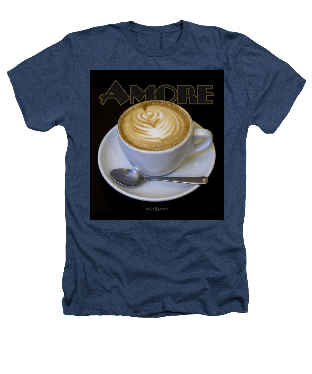 Coffee Heathers T-Shirt featuring the photograph Amore Poster by Tim Nyberg