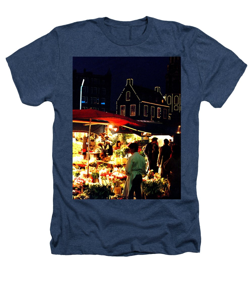 Flowers Heathers T-Shirt featuring the photograph Amsterdam Flower Market by Nancy Mueller