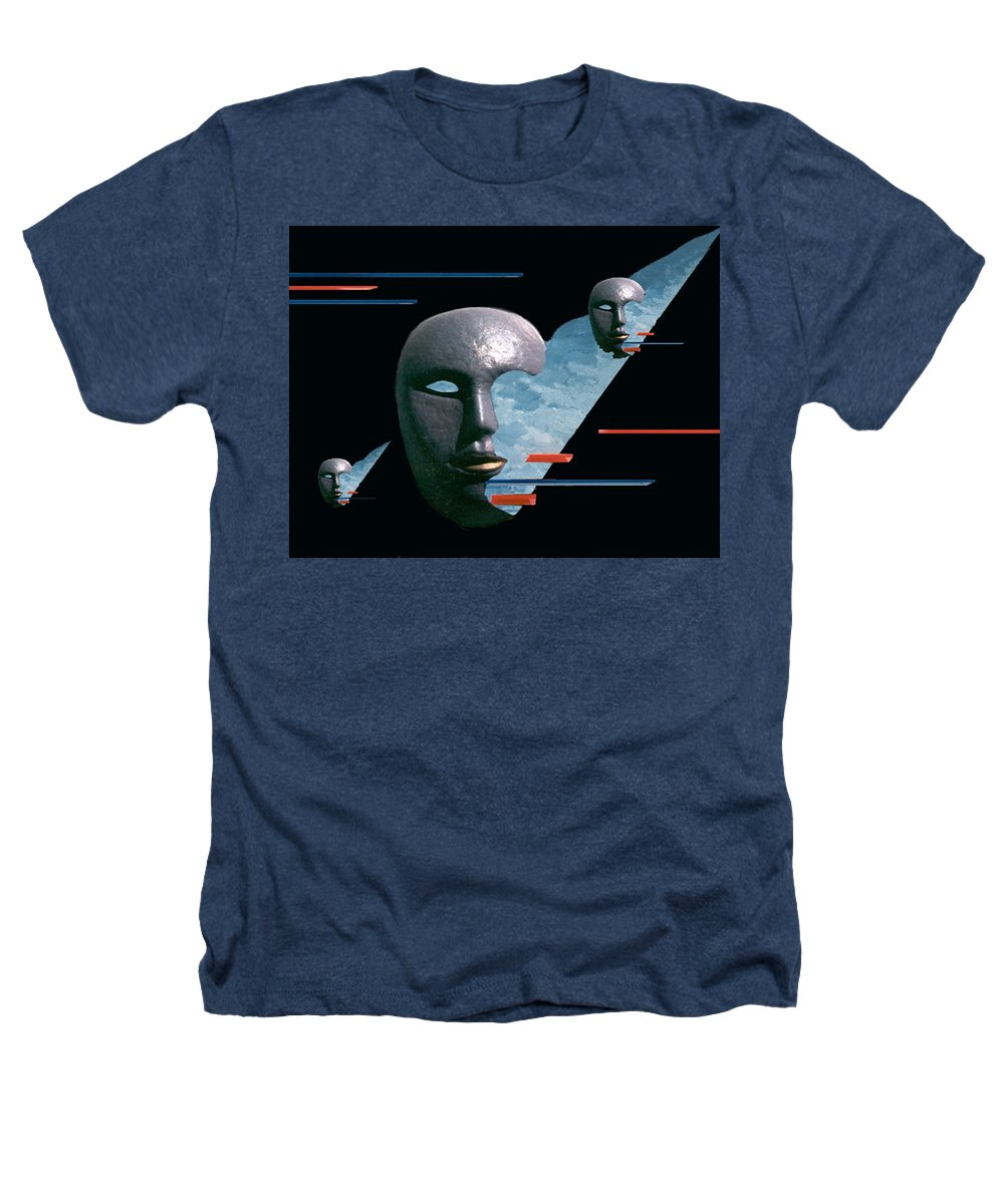 Surreal Heathers T-Shirt featuring the digital art An Androids Dream by Steve Karol
