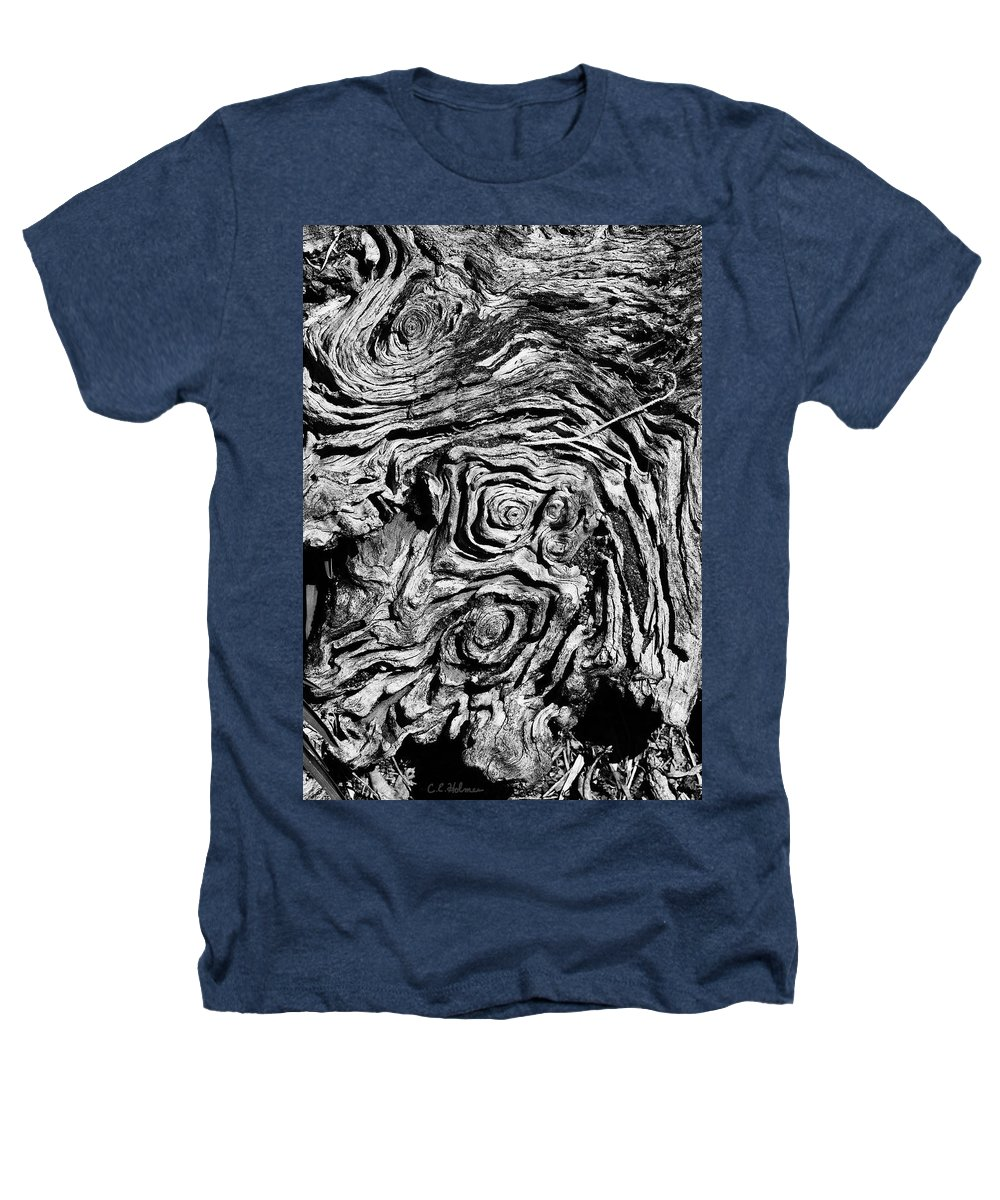Tree Heathers T-Shirt featuring the photograph Ancient Stump by Christopher Holmes