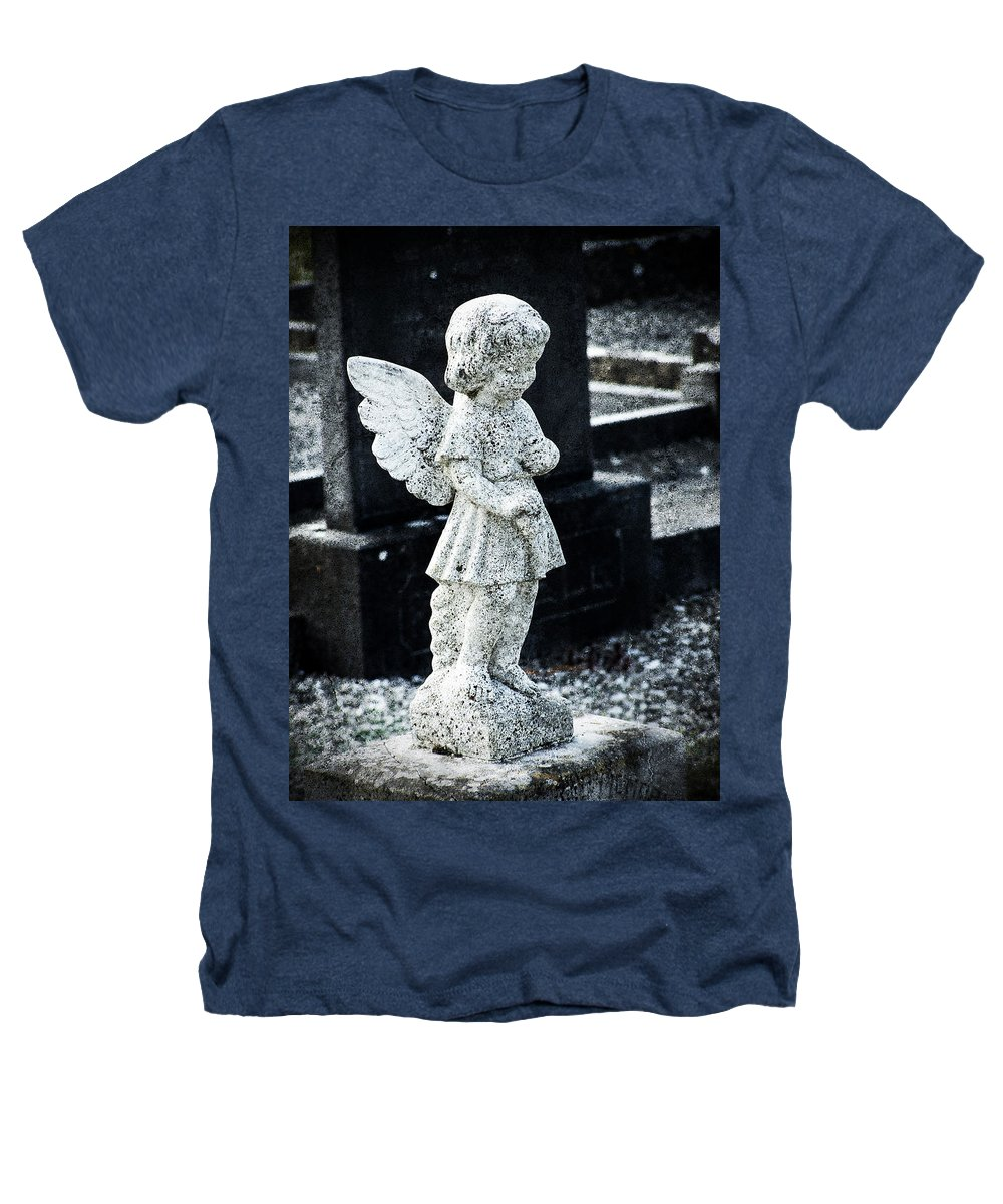 Ireland Heathers T-Shirt featuring the photograph Angel In Roscommon No 3 by Teresa Mucha