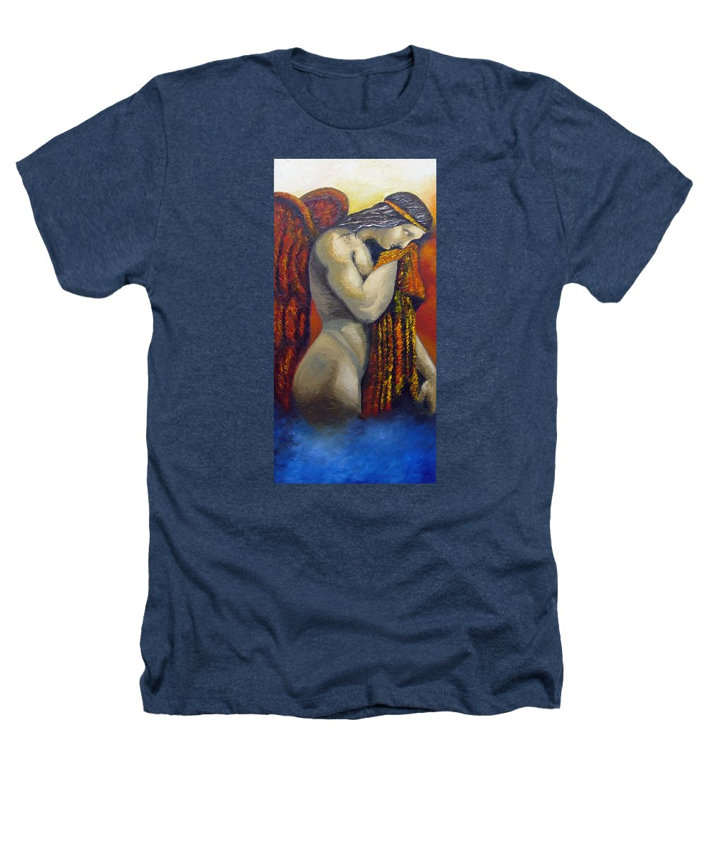 Angel Heathers T-Shirt featuring the painting Angel Of Love by Elizabeth Lisy Figueroa