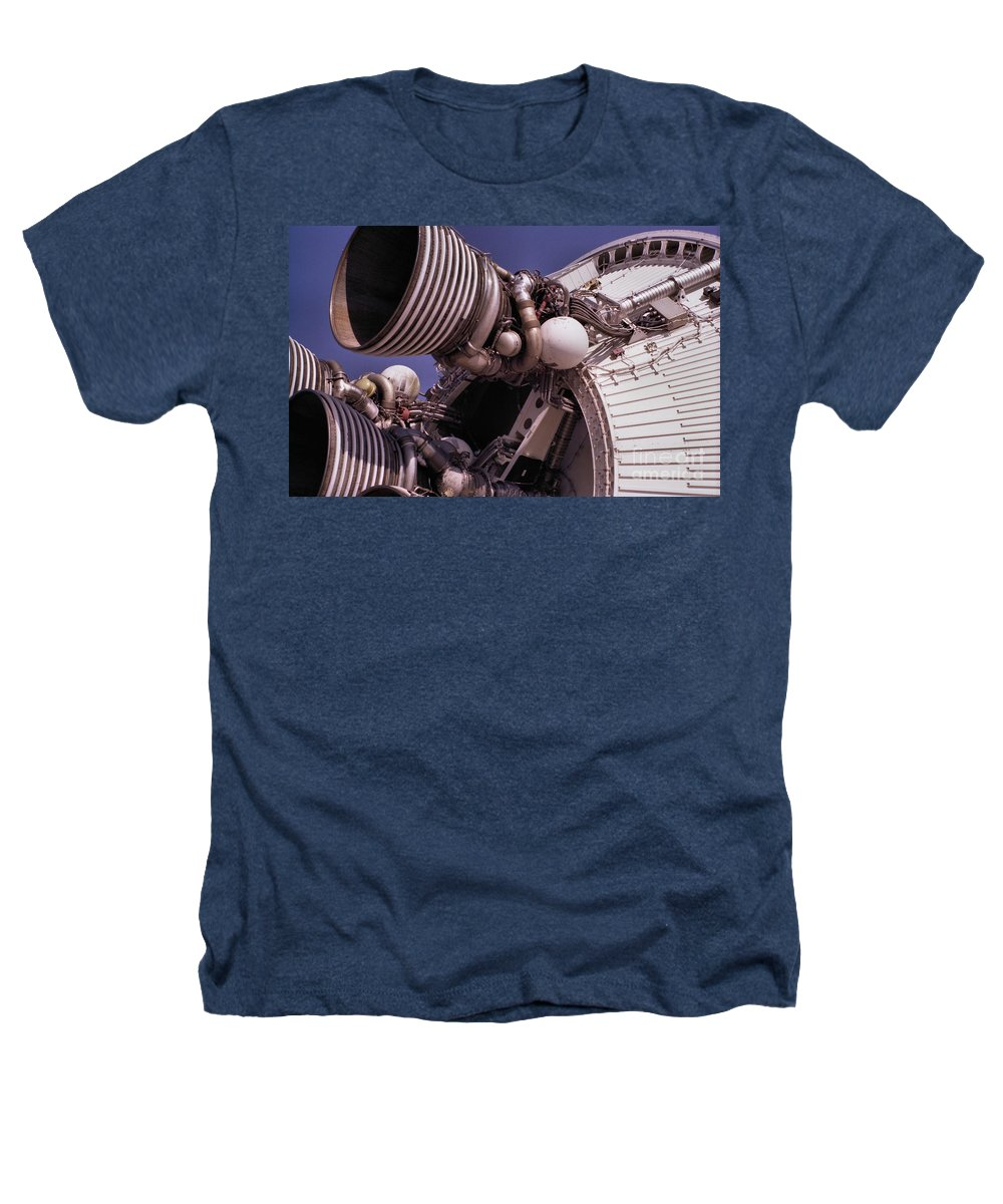 Technology Heathers T-Shirt featuring the photograph Apollo Rocket Engine by Richard Rizzo