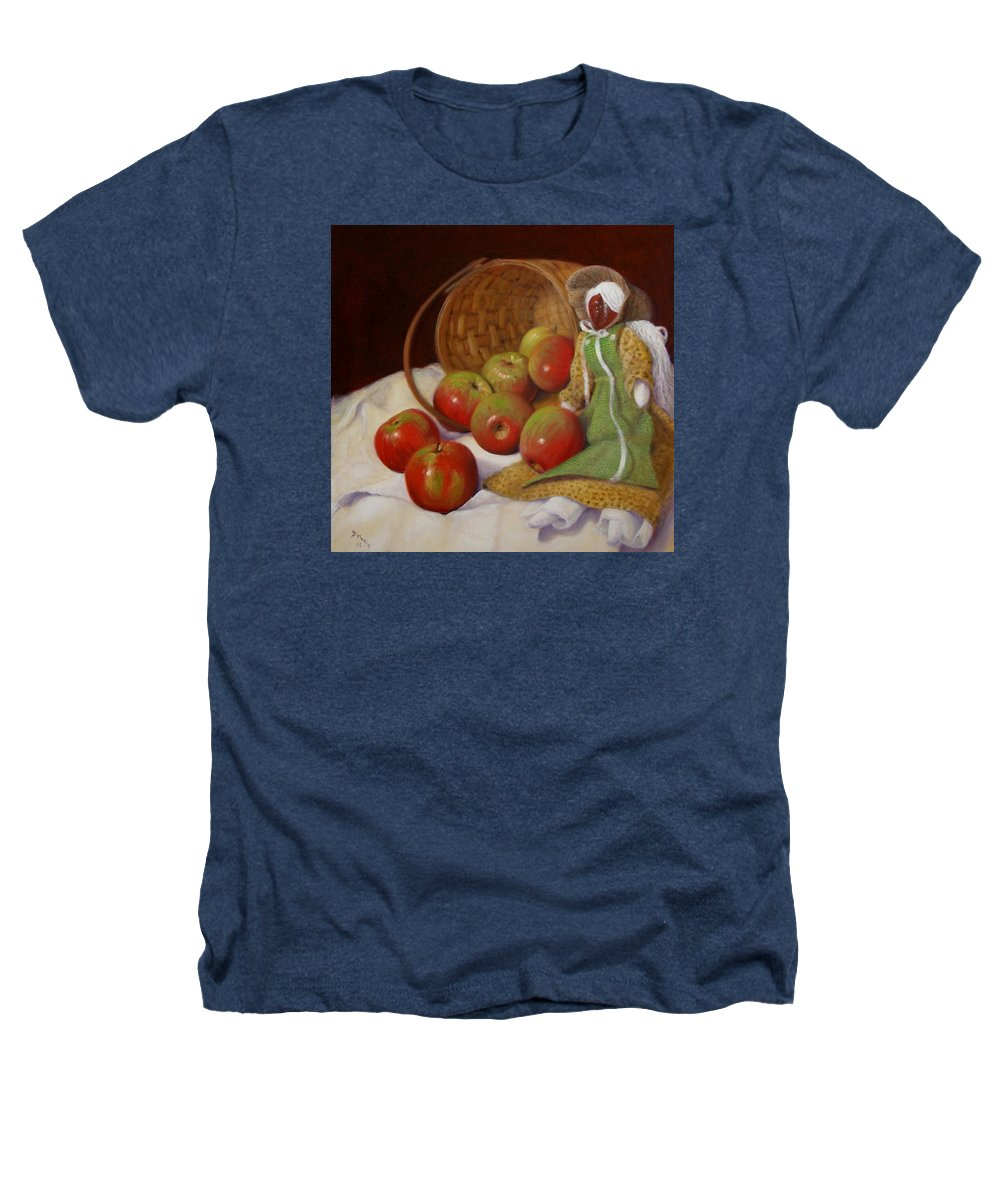 Realism Heathers T-Shirt featuring the painting Apple Annie by Donelli DiMaria