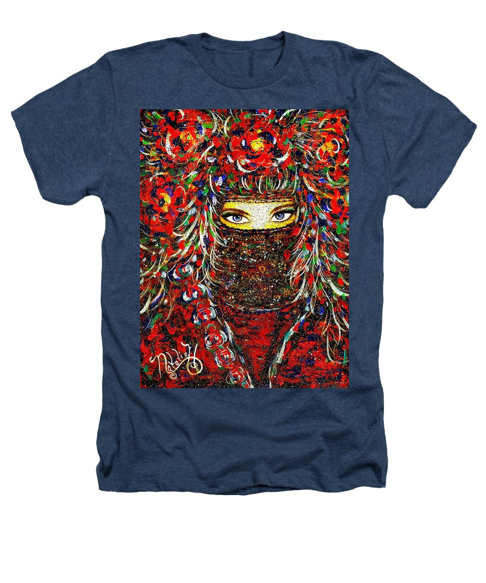 Woman Heathers T-Shirt featuring the painting Arabian Eyes by Natalie Holland