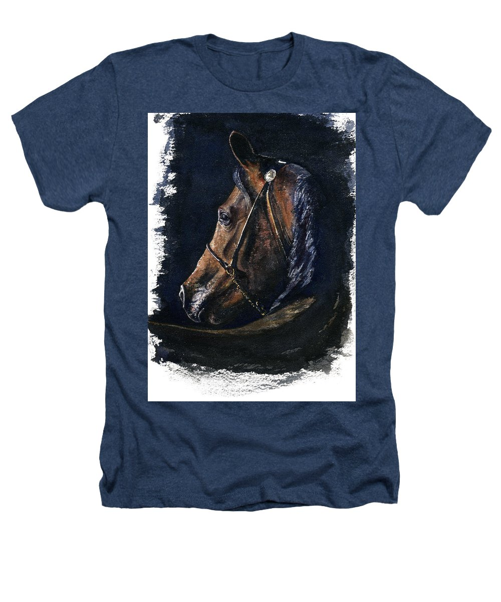 Horse Heathers T-Shirt featuring the painting Arabian by John D Benson
