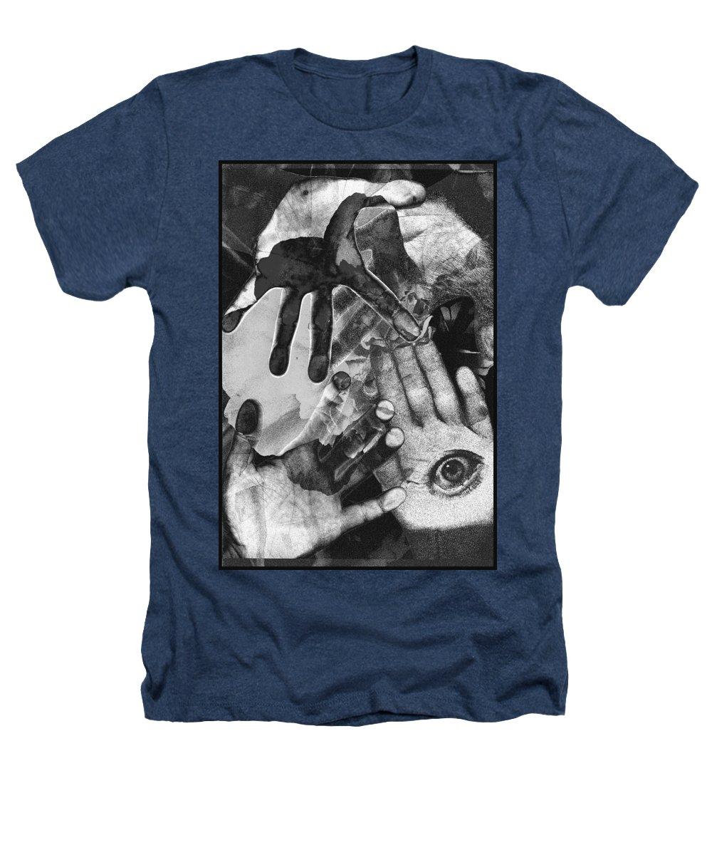 Hands Heathers T-Shirt featuring the photograph Artist's Hands by Nancy Mueller