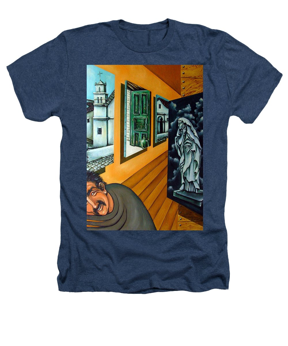 Surreal Heathers T-Shirt featuring the painting Asylum by Valerie Vescovi