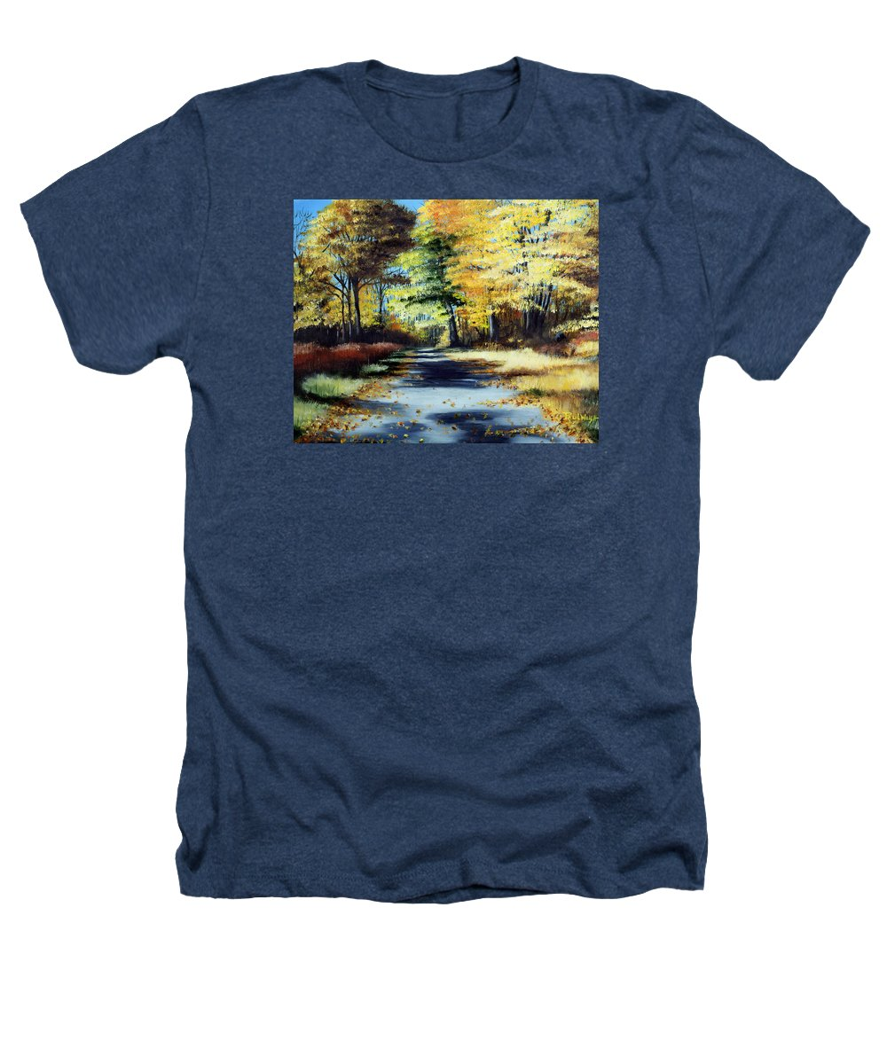 Landscape Heathers T-Shirt featuring the painting Autumn Colors by Paul Walsh