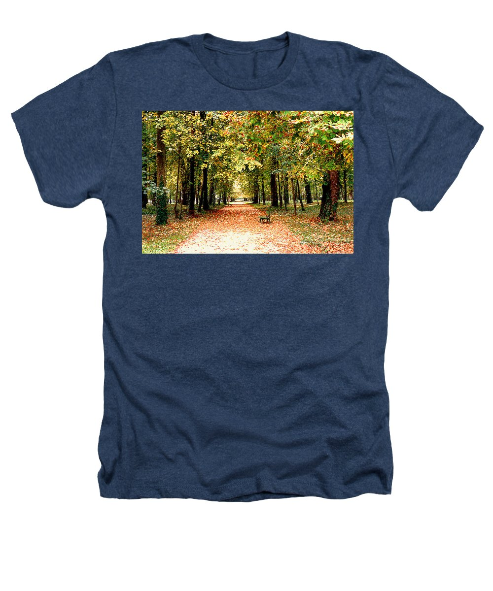 Autumn Heathers T-Shirt featuring the photograph Autumn In The Park by Nancy Mueller